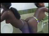 Naked African Girls Play Together